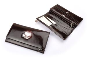 50c6cef233a32 Portfel damski kryształ SWAROVSKI AV-150 brązowy